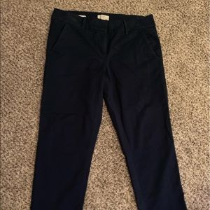 Loft - Modern Chino Crop Pants Navy